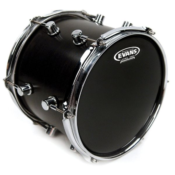 Evans Resonant Black 12-inch Tom Drum Head - TT12RBG